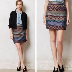 Anthropologie Maeve Audra Woven Pencil Skirt